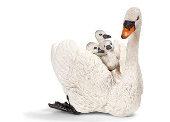 Schleich - White Swan with Cygnets - Earth Toys