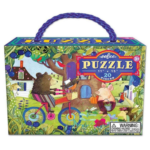 20 Pc Puzzle Bear on Bike