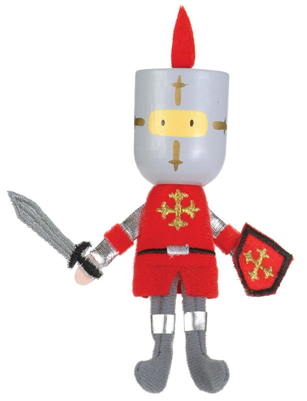 Fiesta Crafts - Red Knight Finger Puppet - Earth Toys