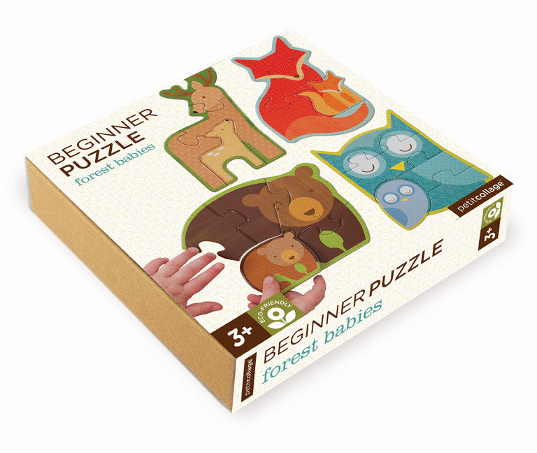 Beginner Puzzle - Forest Babies - Earth Toys - 1