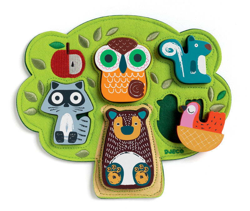 Wooden/Felt Puzzle Oski - Earth Toys