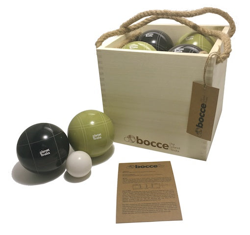 Premium Bocce in Wooden Crate