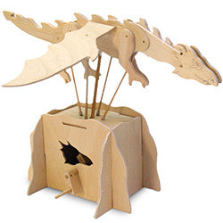 Automaton Dragon Wooden Kit - Earth Toys - 3