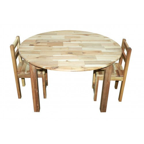 Large Round Table With 2 Standard Chairs
