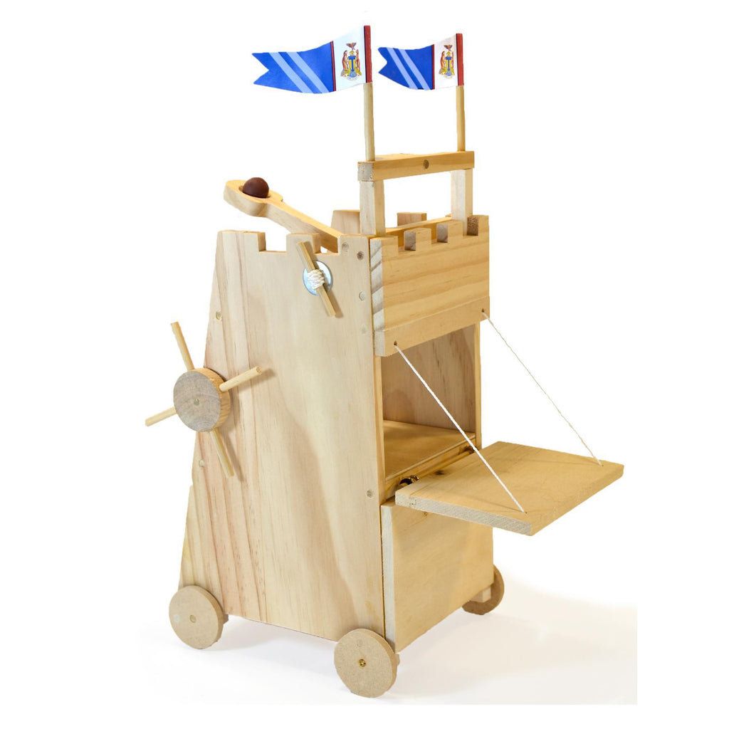 Medieval Siege Tower Wooden Kit - Earth Toys - 1