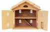 Natural Wooden Doll House - two story - Earth Toys - 2
