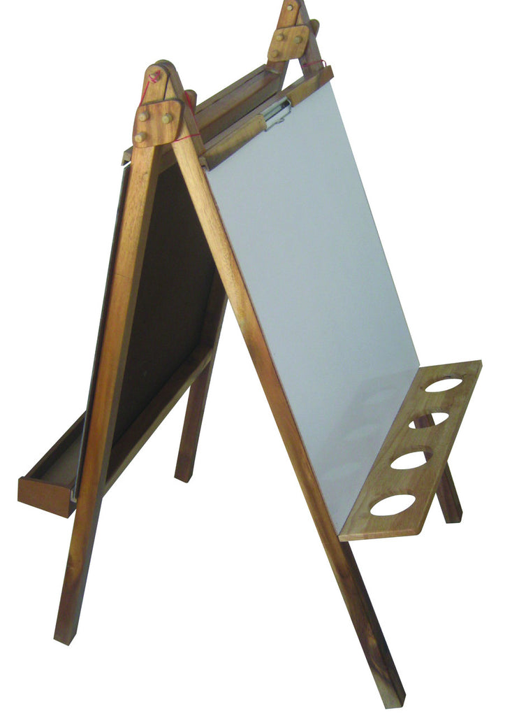 Delux Wooden Standing Easel - Earth Toys - 2