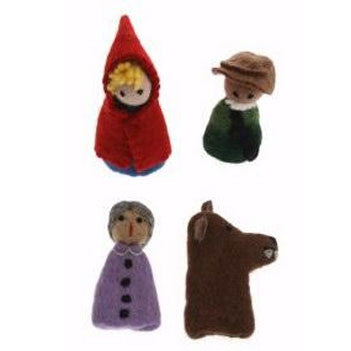 Red riding hood finger puppet set - Earth Toys