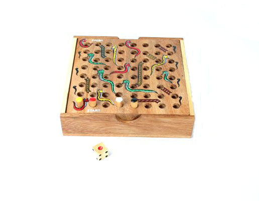 Wooden Snakes and Ladders - Earth Toys