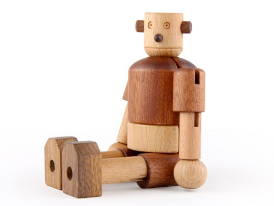Wooden Robot - Earth Toys - 3