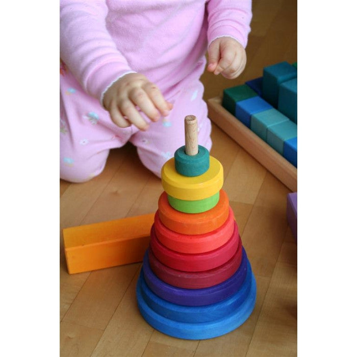 Wooden Stacking Tower - Earth Toys - 4