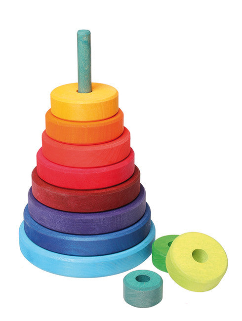 Wooden Stacking Tower - Earth Toys - 1