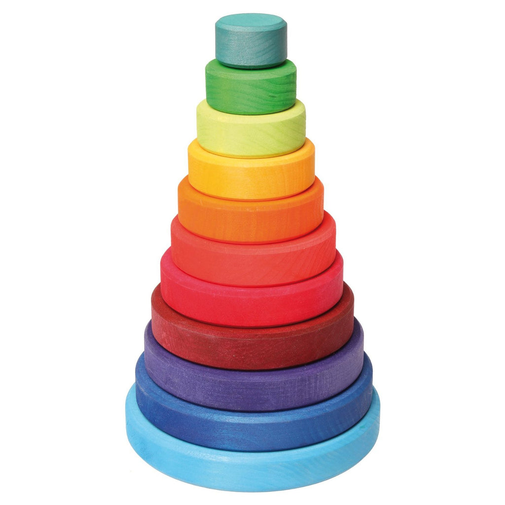 Wooden Stacking Tower - Earth Toys - 5