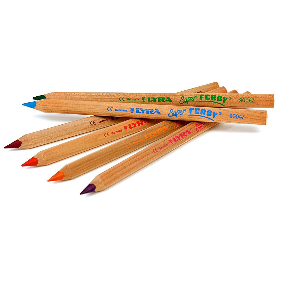 Lyra Super Ferby Nature Pkt of 12 Pencils - Earth Toys - 1