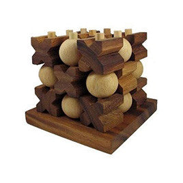 Wooden 3D Tic Tac Toe - Earth Toys