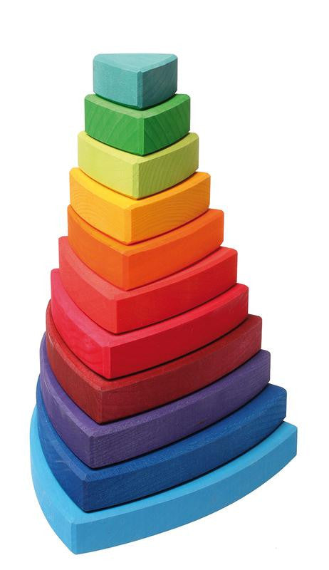 Wooden Stacking Tower - Earth Toys - 7