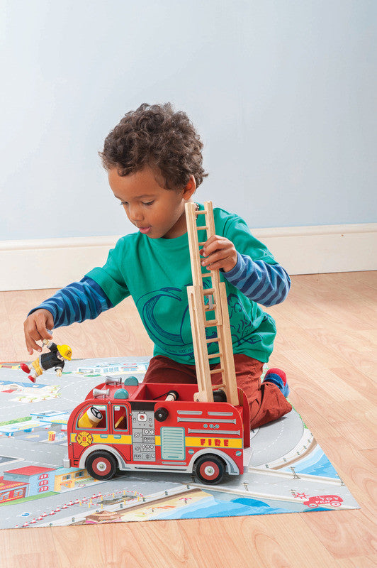 Fire Engine Set Le Toy Van - Earth Toys - 2