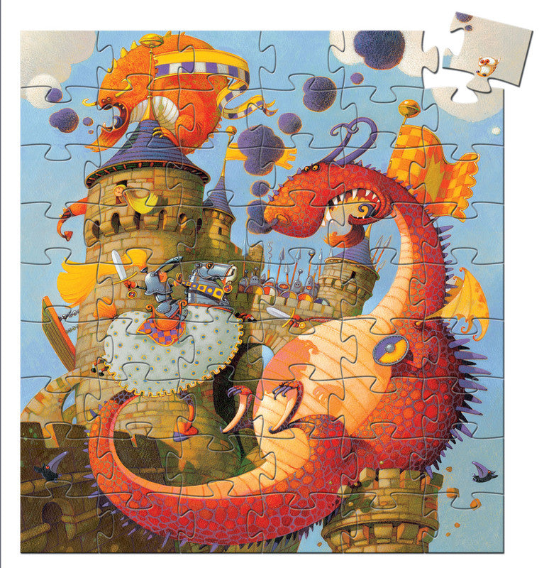 Vaillant And The Dragon - 54pc Silhouette Puzzle - Earth Toys - 2