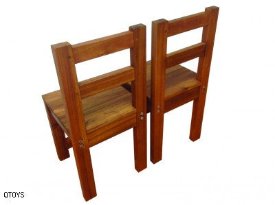 Extra Wooden Acacia Standard Chair - Earth Toys - 3