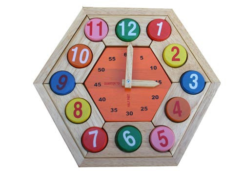 Clock Puzzle - Earth Toys - 1