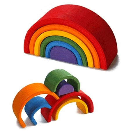 Wooden Stacking Rainbow Earth Toys