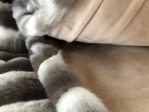 James Brindley Chinchilla Faux Fur Throw | Taylors on the High Street