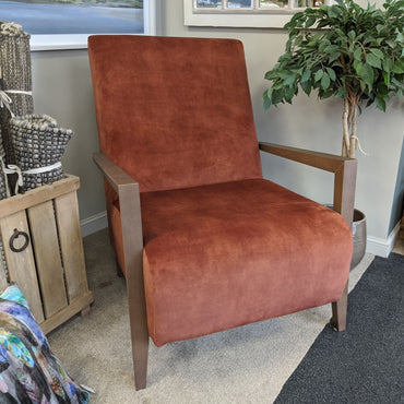 Bali Accent Chair - Uber Plain with Walnut Arms