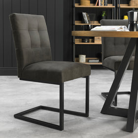 Bentley Designs Indus Upholstered Cantilever Chairs (Pair)