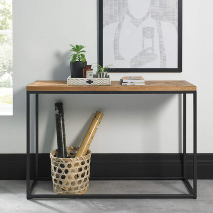 Indus Rustic Oak Console Table