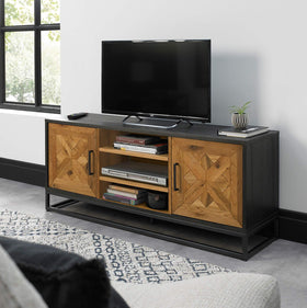 Indus Rustic Oak Entertainment Unit