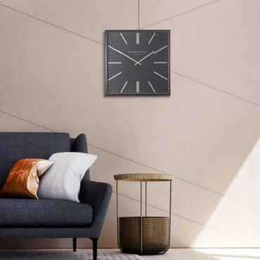 Garrick Graphite Large Wall Clock