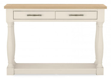 Chartreuse Console Table - Aged Oak & Antique White