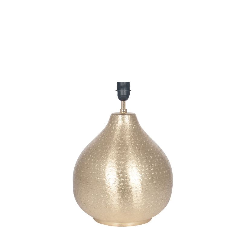 Matt Brass Hammered Metal Table Lamp