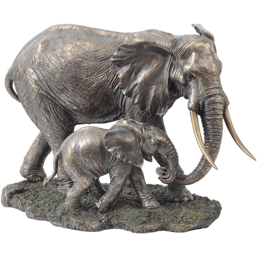 Libra Serengeti Mother and Baby Elephant Sculpture
