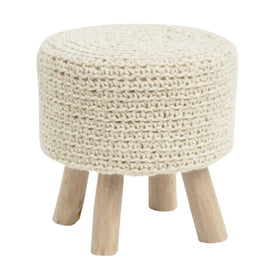 Libra Nomad Hand Knitted Stool Natural | Taylors on the High Street