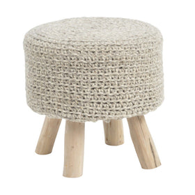 Libra Nomad Hand Knitted Stool Stone Grey | Taylors on the High Street