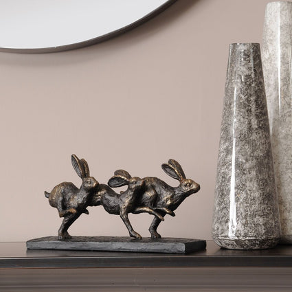 Running Hares Sculpture
