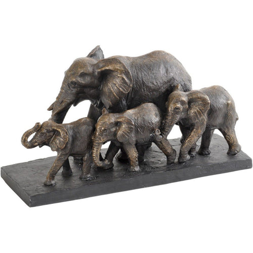 Libra Antique Bronze Parade of Elephants Sculpture