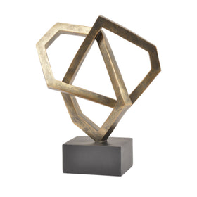 Libra Antique Bronze Cubist Sculpture | Taylors on the High Street