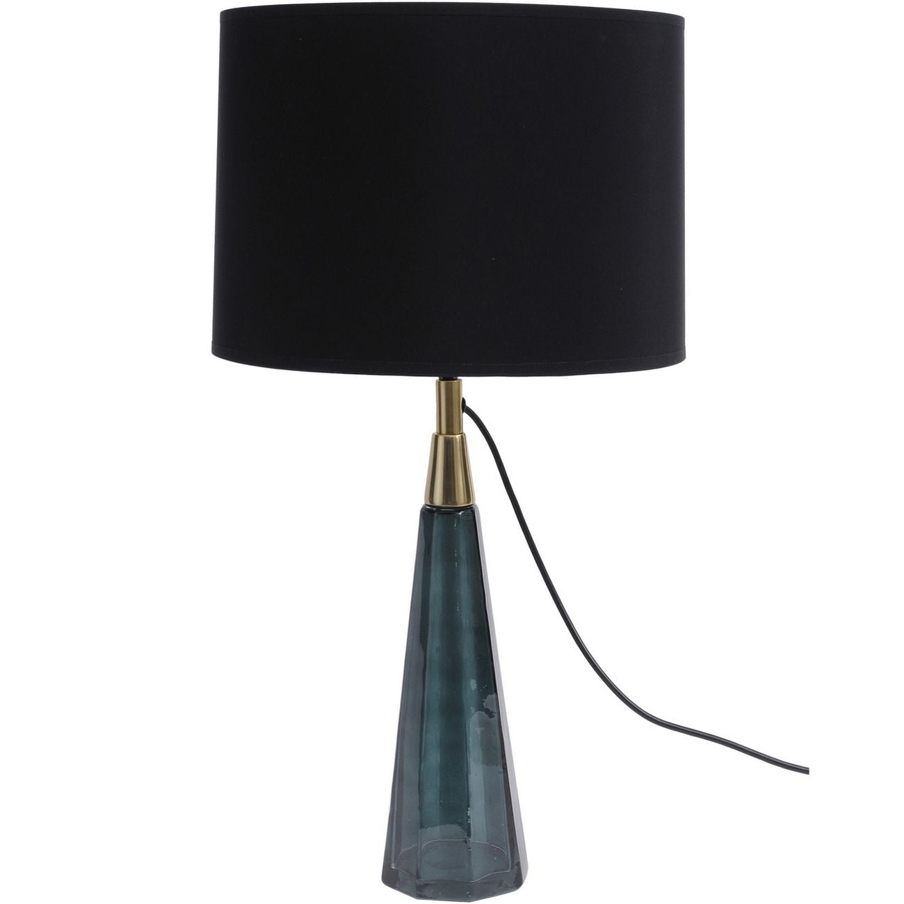 Poloma Green Glass Faceted Table Lamp