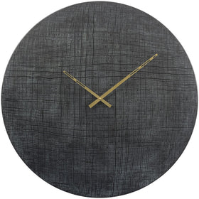Textured Black and Green Wall Clock