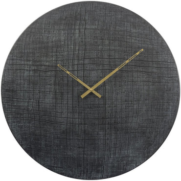 The Libra Company Textured Black and Green Aluminium Wall Clock | Taylors on the High Street