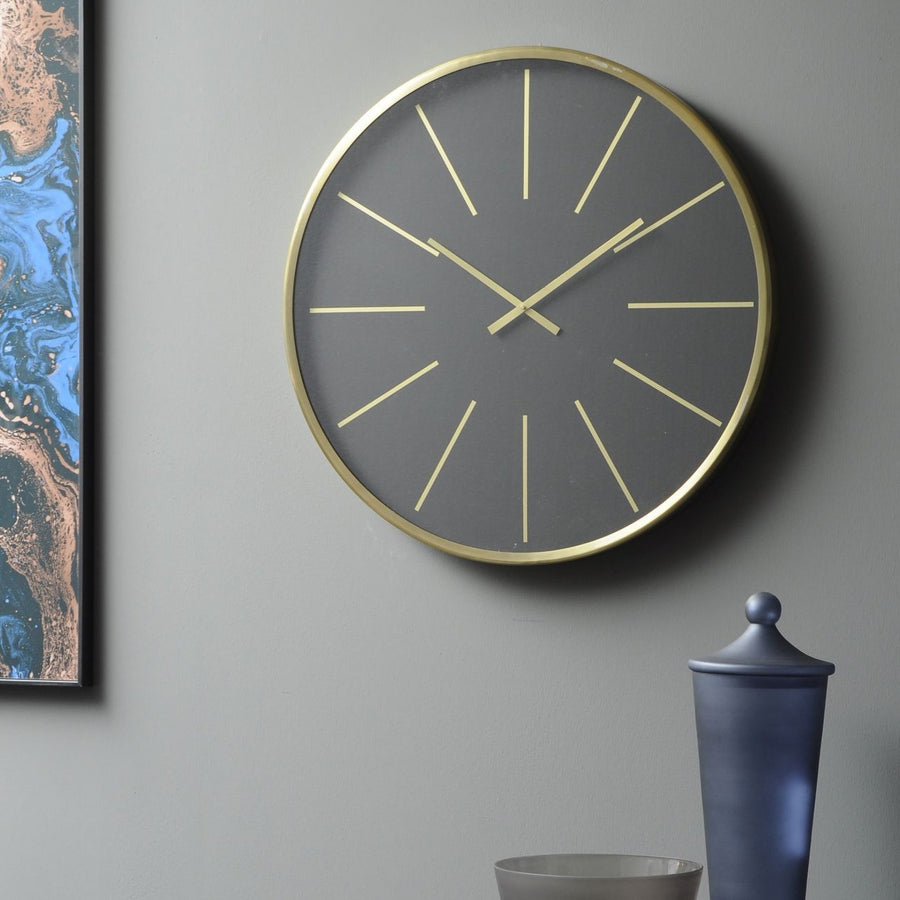 Black and Brass Wall Clock