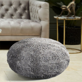 Libra Laval Hand Knitted Pouffe | Taylors on the High Street
