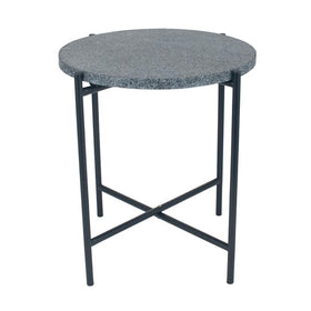 Pacific Lifestyle Black Terrazzo & Black Metal Table | Taylors on the High Street