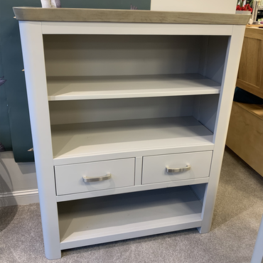 Annaghmore Darroch Low Bookcase with 2 Drawers | Taylors on the High Street
