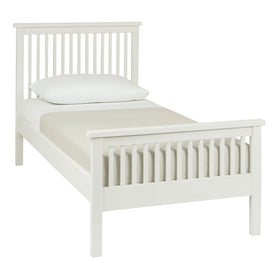 Bentley Designs Atlanta White High Footend Single Bedstead | Taylors on the High Street