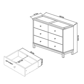 Bentley Designs Atlanta White 6 Drawer Wide Chest | Taylors on the High Street