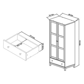 Bentley Designs Atlanta White Double Wardrobe | Taylors on the High Street