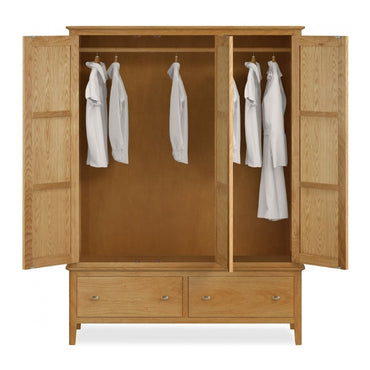 Bath Oak Triple Wardrobe